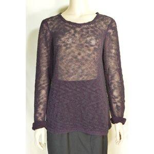 Lilla-P top sweater top SZ L brown black loose wea